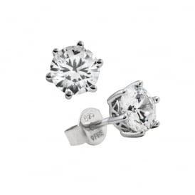 Sterling Silver 1ct Solitaire Stud Earrings