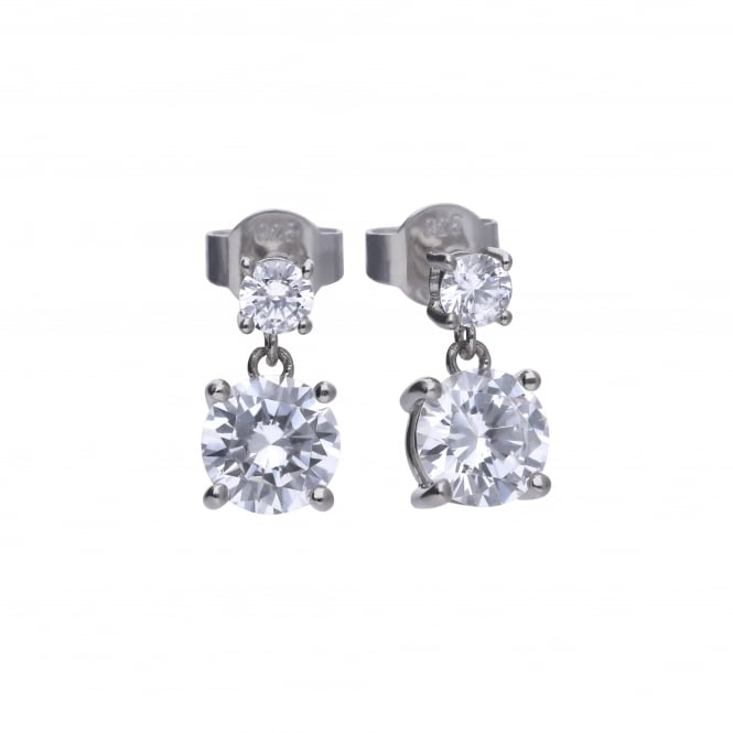 Diamonfire Sterling Silver & Cubic Zirconia Drop Earrings