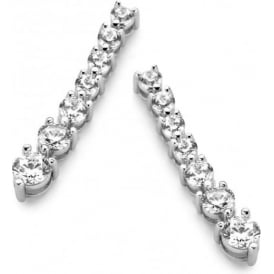 Sterling Silver Cubic Zirconia Drop Earrings