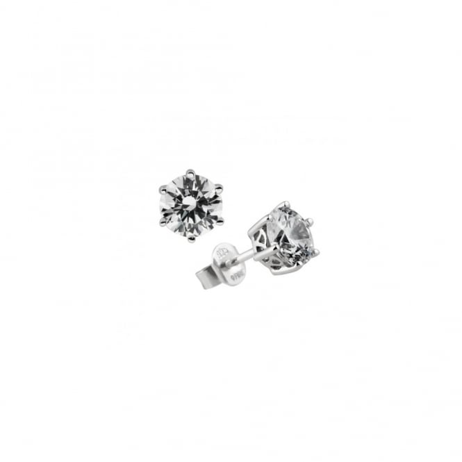 Diamonfire Sterling Silver CZ Round 1.50ct Stud Earrings