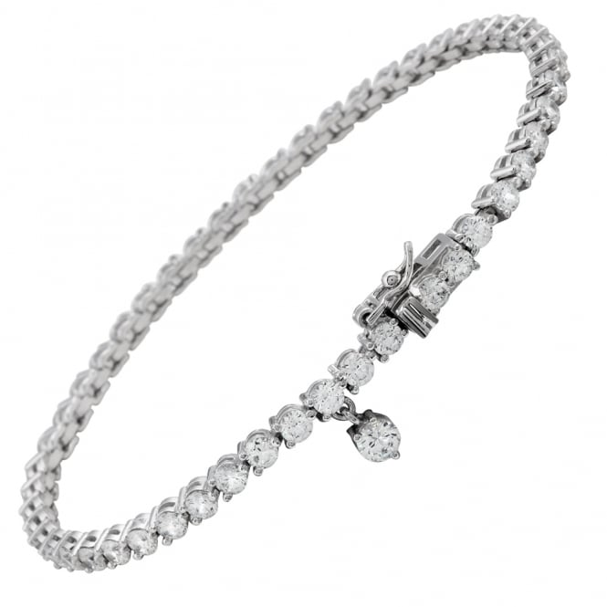 Diamonfire Sterling Silver CZ Tennis Bracelet
