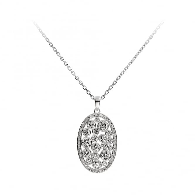 Diamonfire Sterling Silver Fancy Circle Necklace
