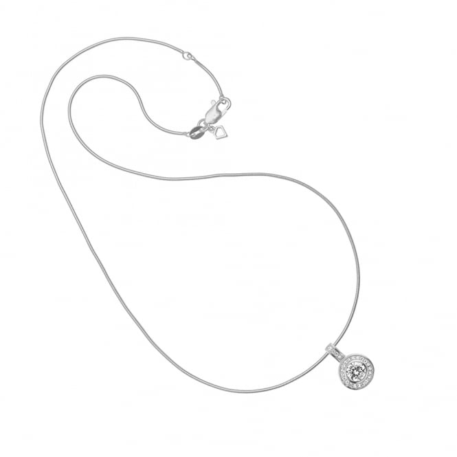 Diamonfire Sterling Silver Round CZ Necklace