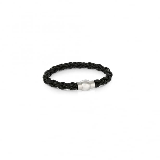 Duncan Walton Black Leather Fowler Bracelet