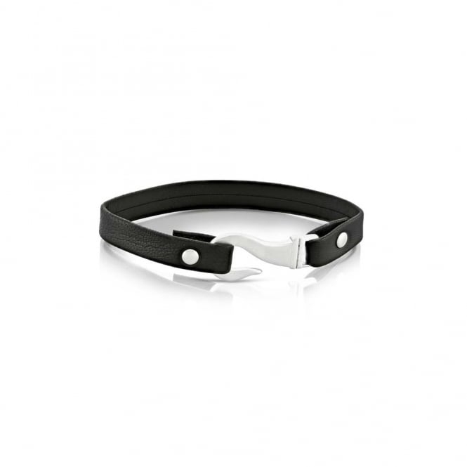 Duncan Walton Black Leather Peploe Noir Bracelet