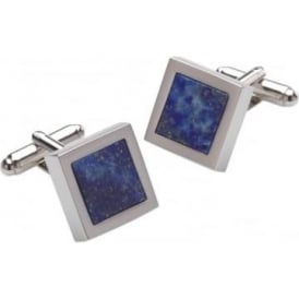 Silver And Blue Mensa Lapis Cufflinks