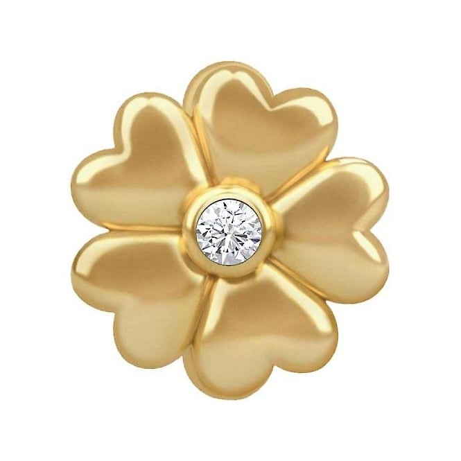 Endless Jewellery Gold Plated Heart Petal Flower Charm