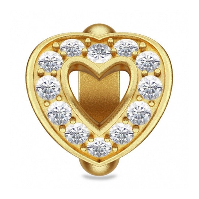 Endless Jewellery Gold Plated Open Love Heart Charm