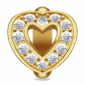 Gold Plated Open Love Heart Charm