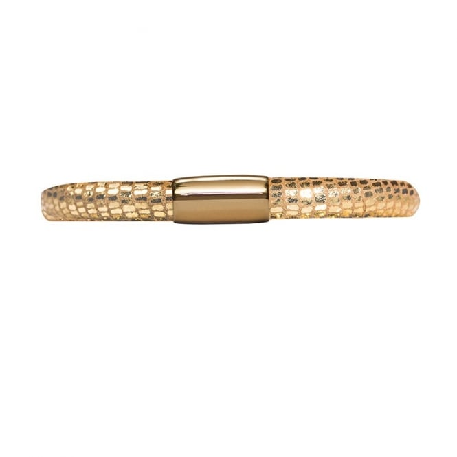 Endless Jewellery Jennifer Lopez Single Leather Gold Reptile Bracelet