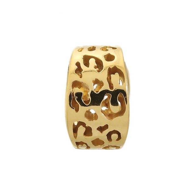 Endless Jewellery Jennifer Lopez Yellow Gold Leopard Cut Out Charm