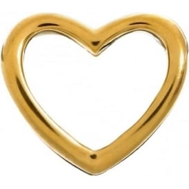 Gold Plated Open Heart Charm