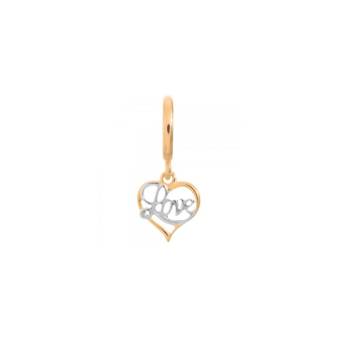 Endless Jewellery Love Gold and Silver Charm