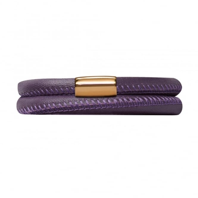 Endless Jewellery Purple Double Leather Bracelet