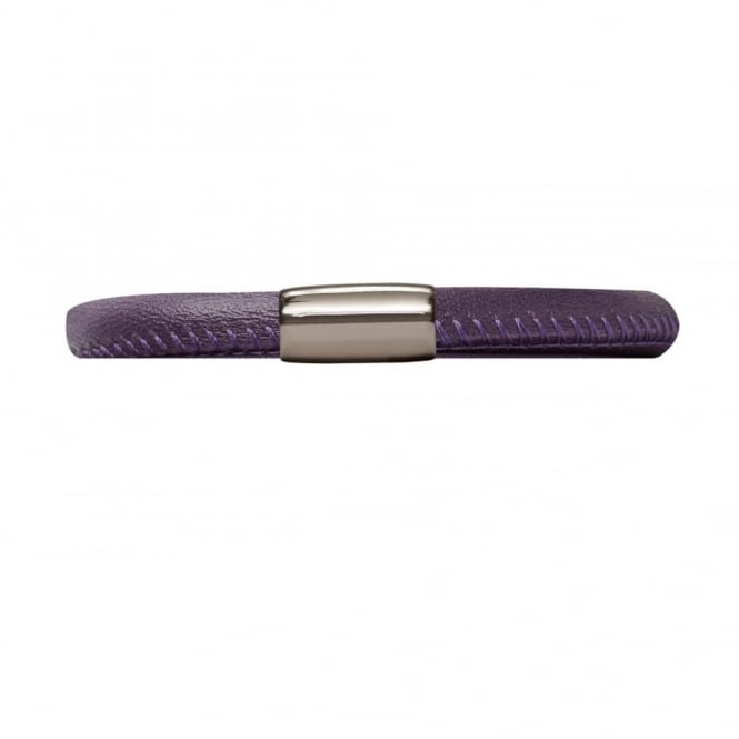 Endless Jewellery Purple Single Leather Bracelet