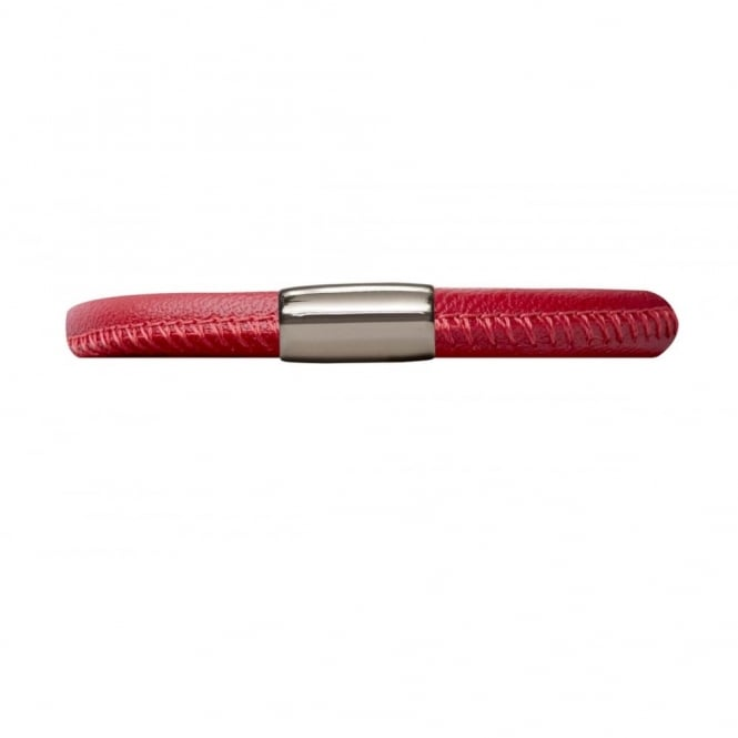 Endless Jewellery Red Single Leather Clasp Bracelet