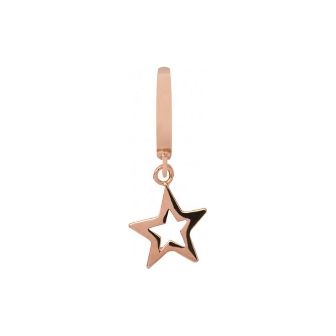Endless Jewellery Rose Gold Plated Open Star Charm