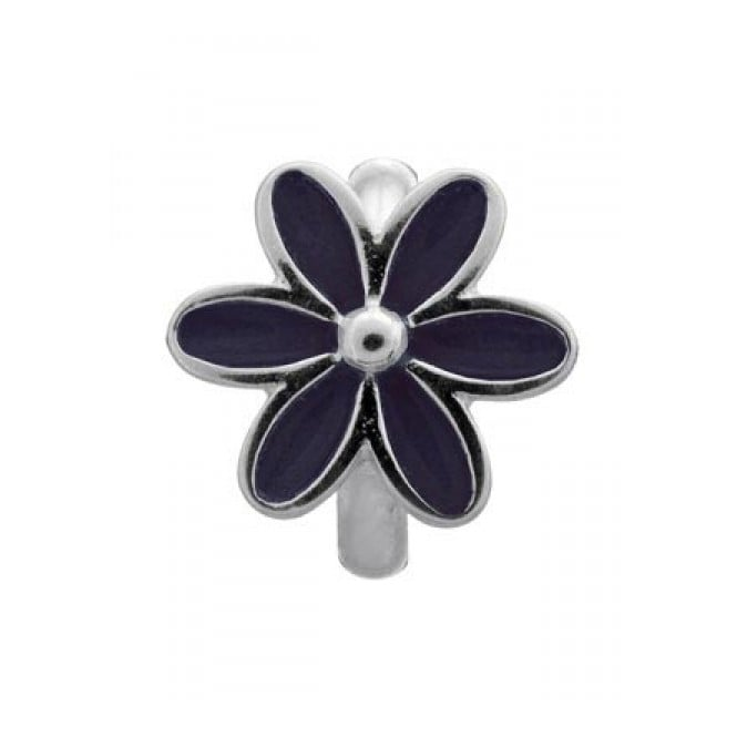 Endless Jewellery Sterling Silver Black Flower Charm