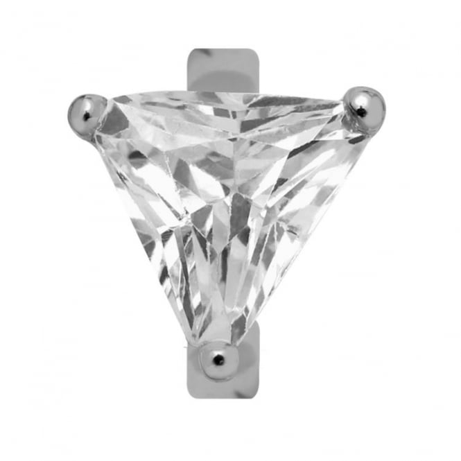 Endless Jewellery Sterling Silver Crystal Quartz Triangle Charm
