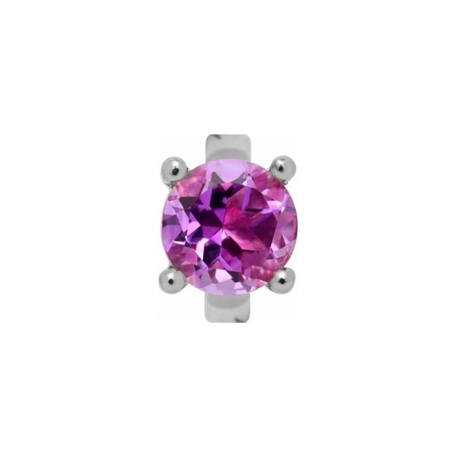 Endless Jewellery Sterling Silver Round Amethyst Charm
