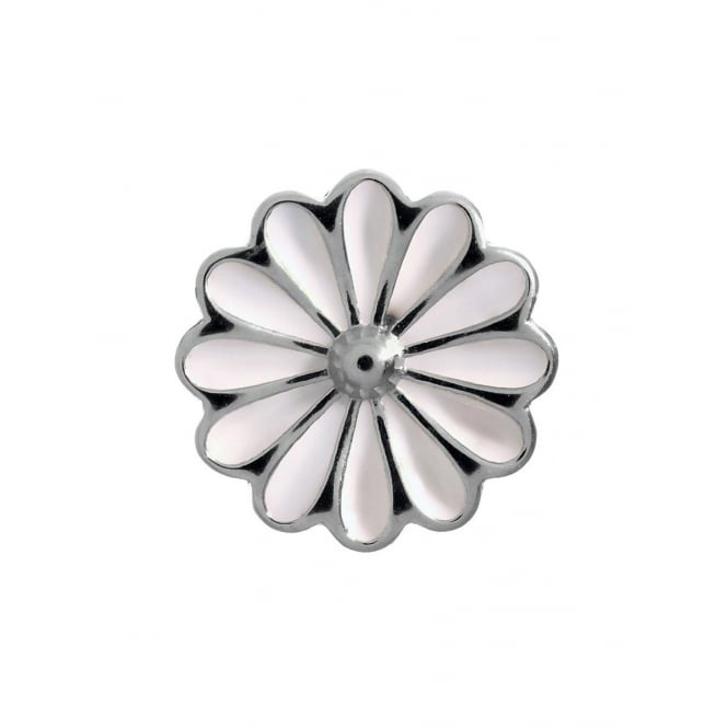 Endless Jewellery Sterling Silver White Daisy Flower Charm