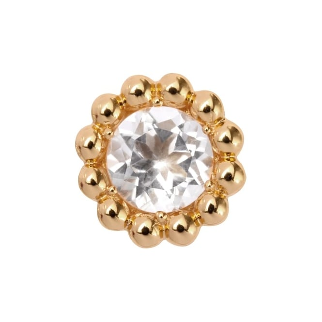 Endless Jewellery Yellow Gold Cubic Zirconia Flower Charm