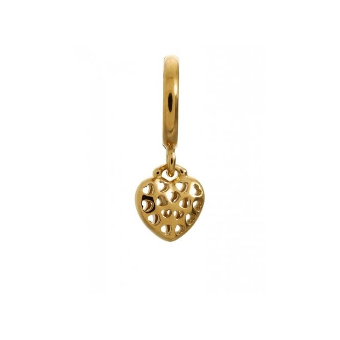 Endless Jewellery Yellow Gold Plated Heart In Heart Charm