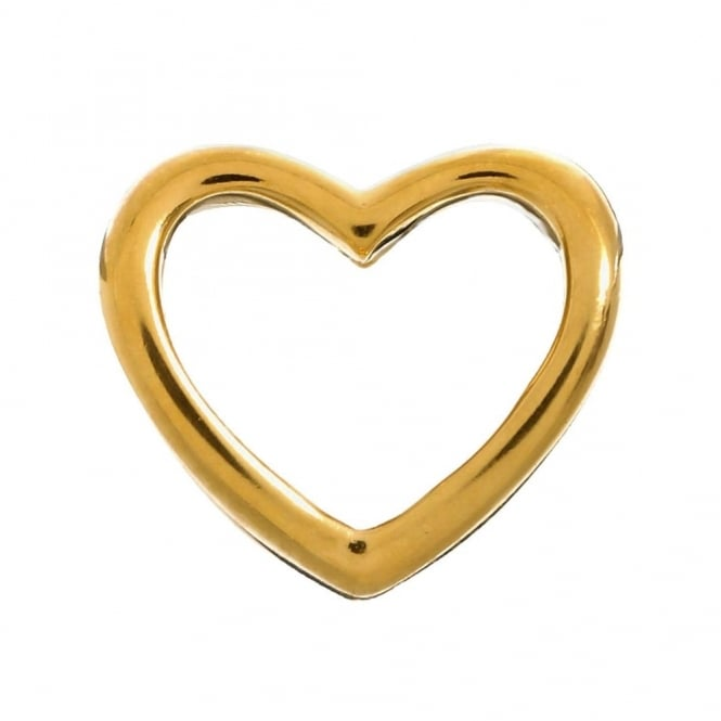 Endless Jewellery Yellow Gold Plated Open Heart Charm