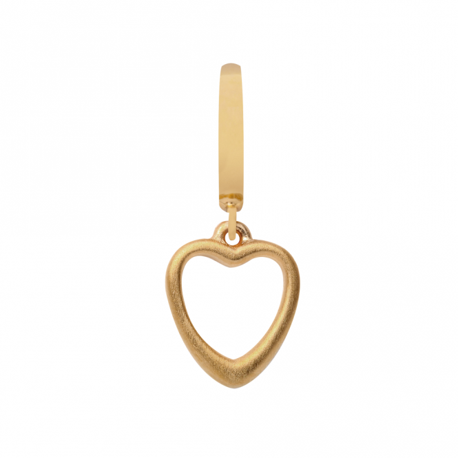 Endless Jewellery Yellow Gold Plated Open Heart Drop Charm