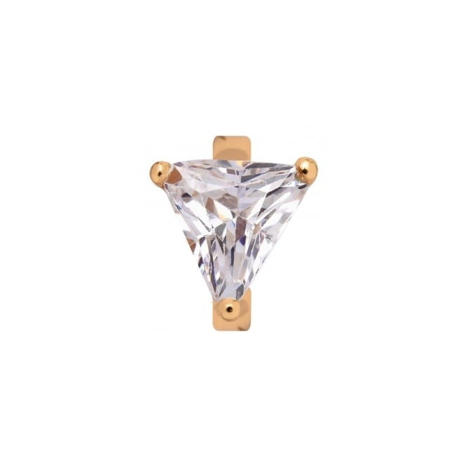 Endless Jewellery Yellow Gold Plated Triangular Quartz Charm