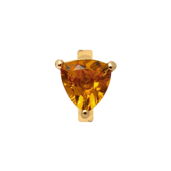 Endless Jewellery Yellow Gold Triangular Citrine Charm