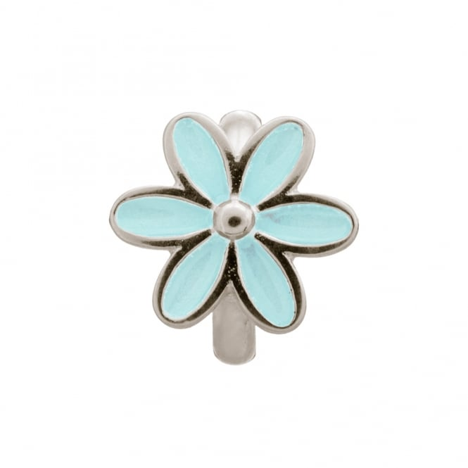 Endless Jewellery Sterling Silver Blue Flower Charm