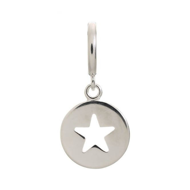 Endless Jewellery Sterling Silver Cut Out Star Disc Charm