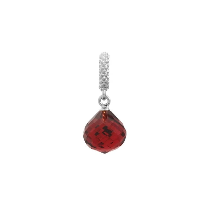 Endless Jewellery Sterling Silver Mysterious Edge Ruby Drop Charm