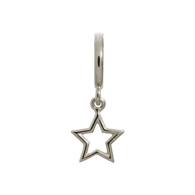 Endless Jewellery Sterling Silver Open Star Drop Charm