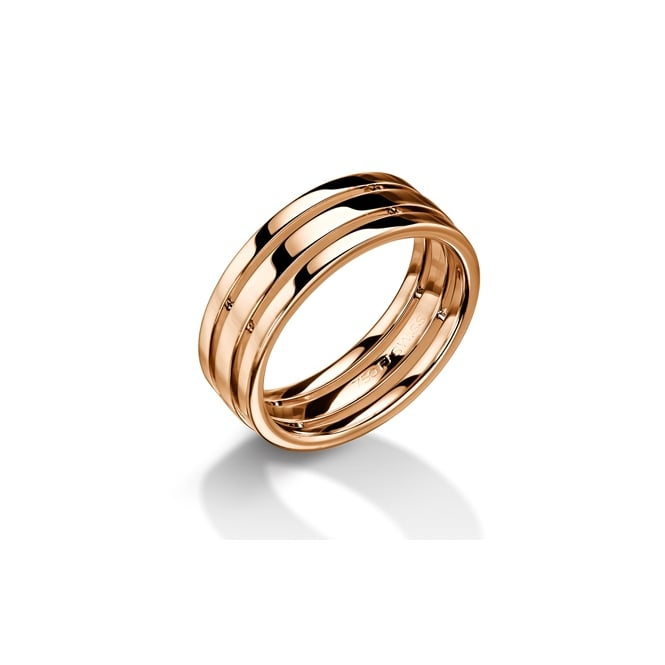 Furrer Jacot 18ct Rose Gold 7.5mm Cut Out Wedding Ring