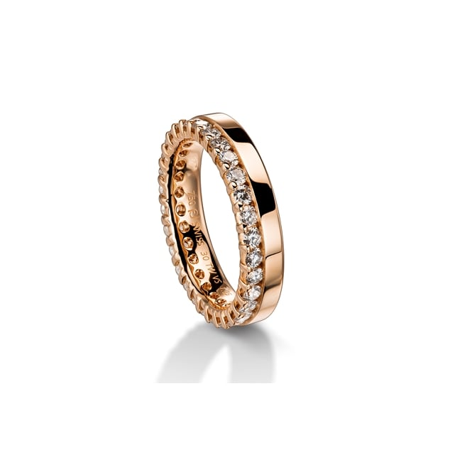 Furrer Jacot 18ct Rose Gold Fully Set 0.595ct Brilliant Diamond Wedding Band