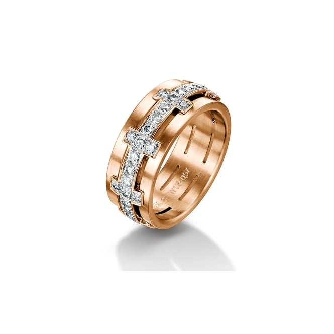 Furrer Jacot 18ct Rose Gold Fully Set 1.04ct Chilli Wedding Ring