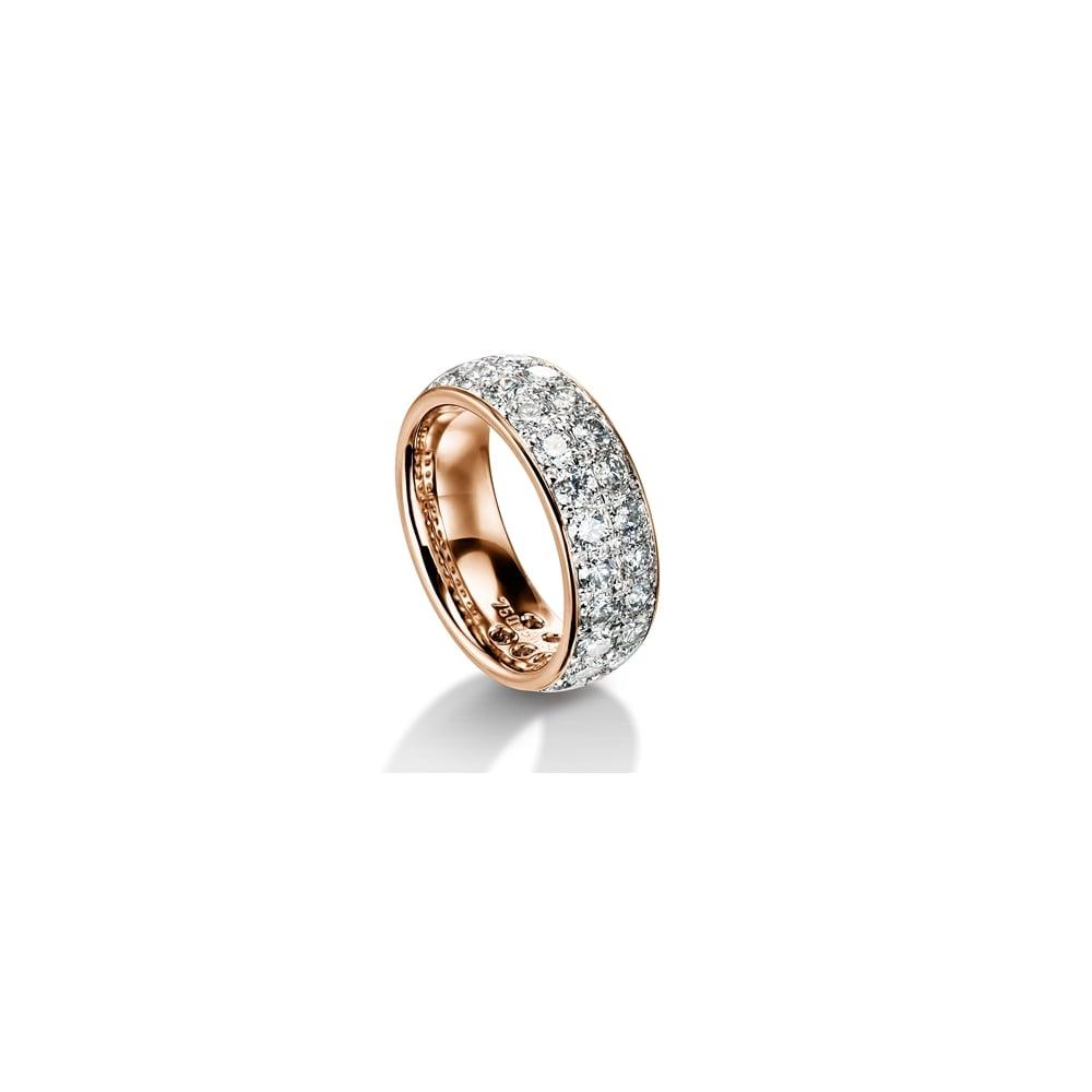b4e880a2a5e 18ct Rose Gold Fully Set 2.88ct Brilliant Diamond Wedding Band