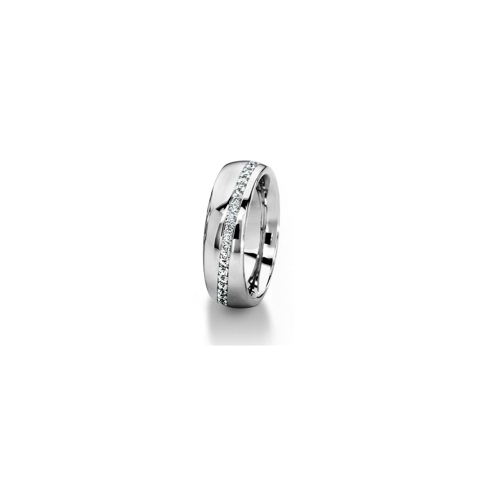 0e840e4b986 18ct White Gold 0.312ct Diamond Stripe Wedding Ring