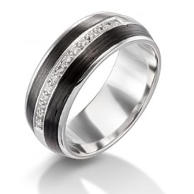 Carbon Fibre Wedding Rings Lance James Jewellers Engagement And