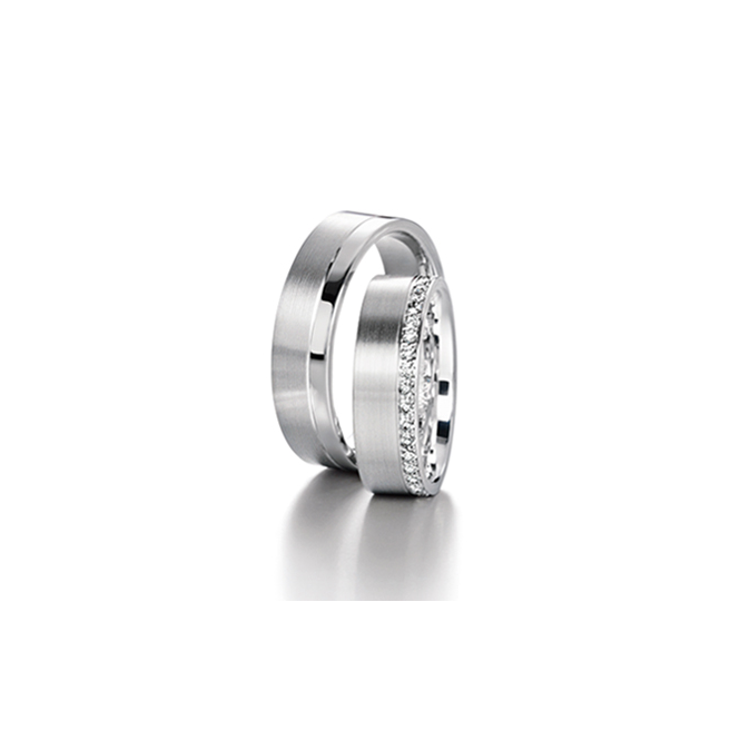 Furrer Jacot 18ct White Gold Fully Set Diamond Ring with 0.38ct