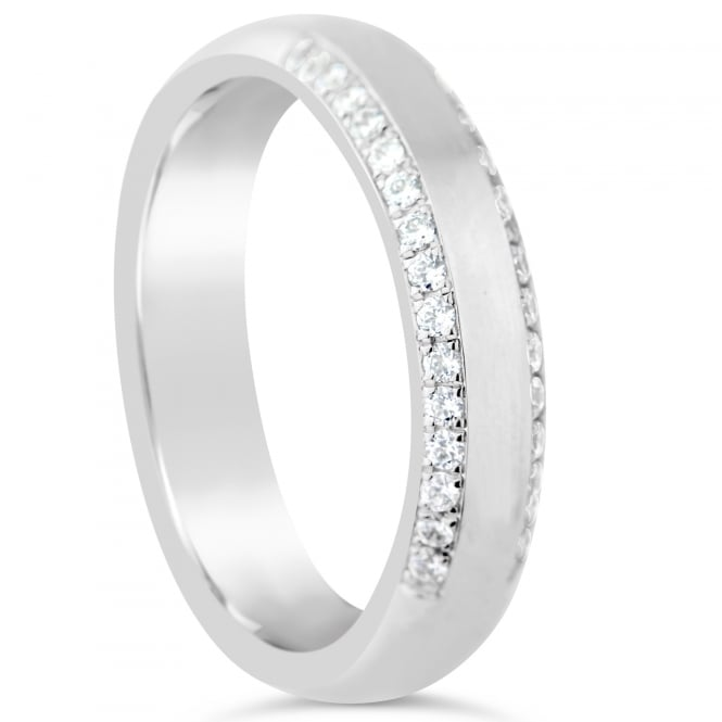 Furrer Jacot 18ct White Gold Half Set 0.240ct Diamond Wedding Ring