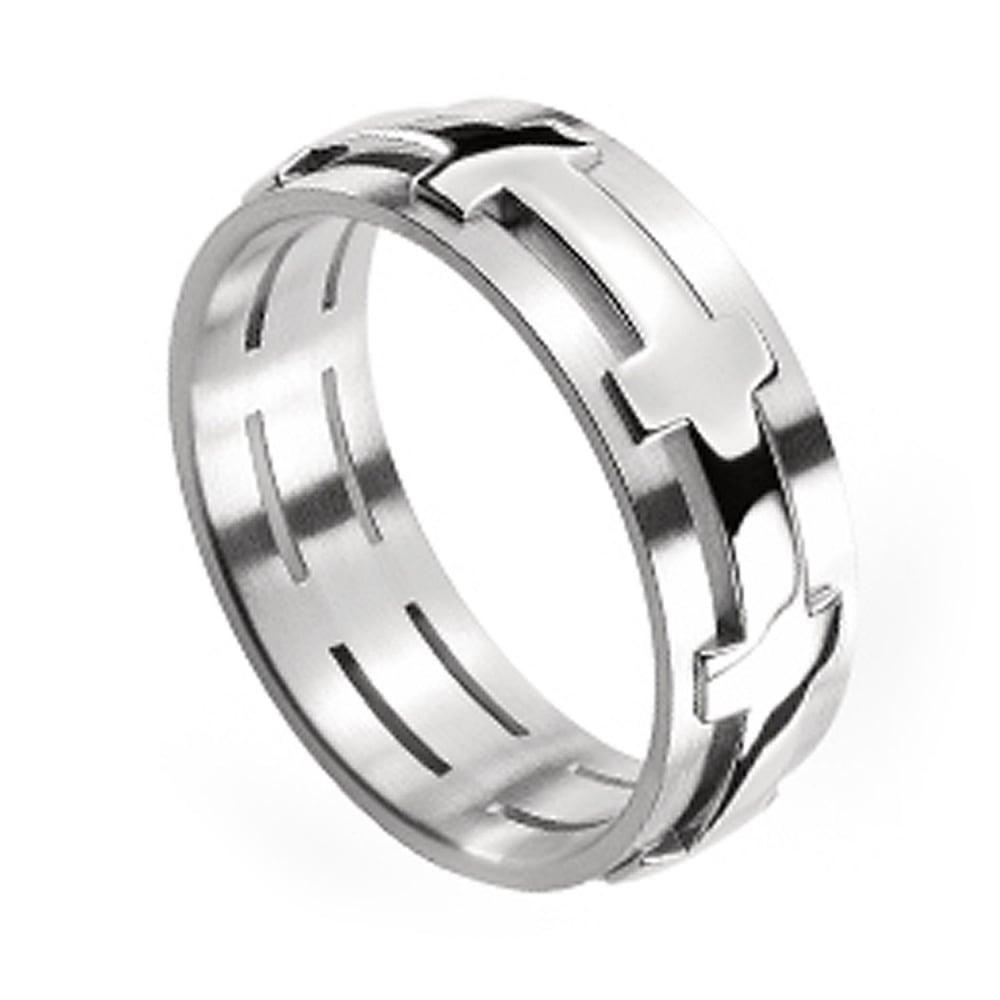 18ct White Gold Plain Set 6mm Chilli Wedding Ring