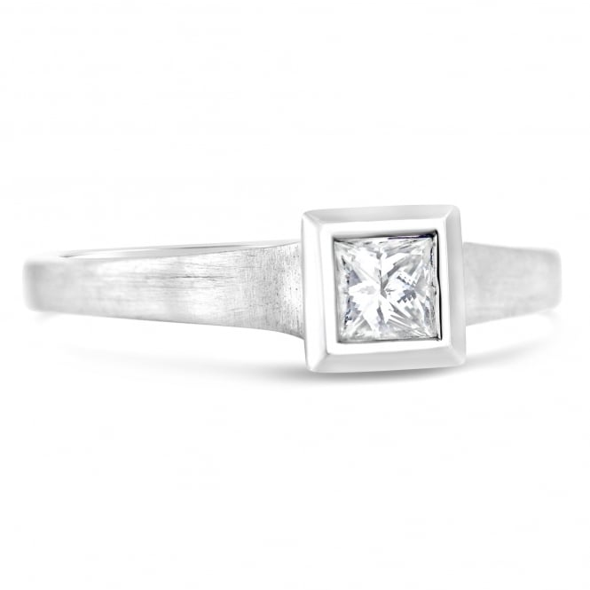 Furrer Jacot 18ct White Gold Princess Cut Engagement Ring