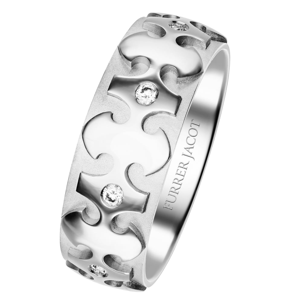 White Gold SciFi 0160ct Diamond Wedding Ring