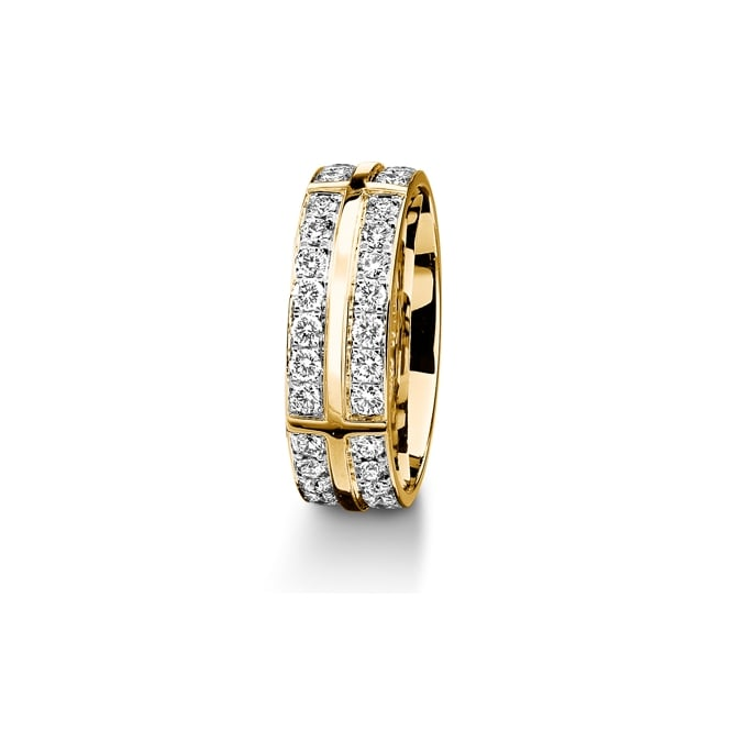 Furrer Jacot 18ct Yellow Gold Fully Set 1.40ct Brilliant Diamond Wedding Ring