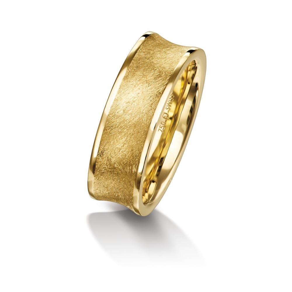 7 5mm 18ct Yellow Gold Plain Set Wedding Band