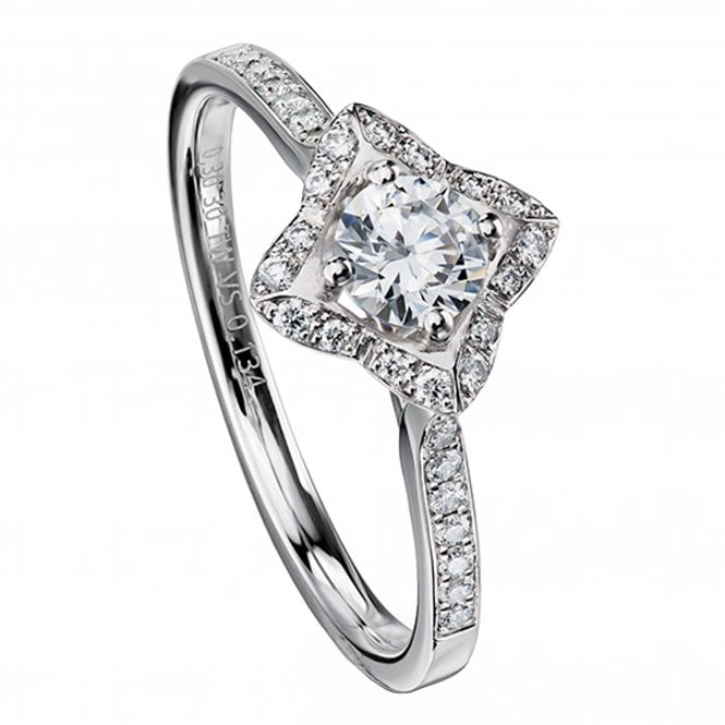 Furrer Jacot 'Lily' Engagement Ring set with 0.43ct Diamonds