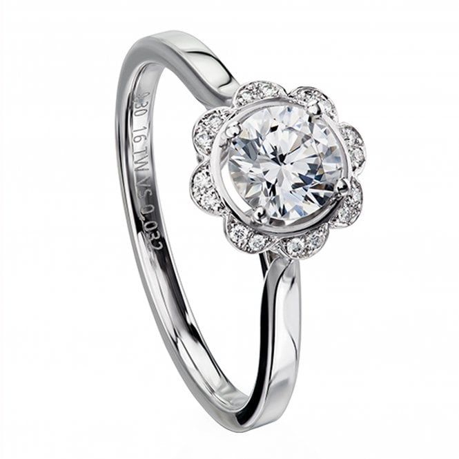 Furrer Jacot 'Magrite' Engagement Ring set with 0.33ct Diamonds